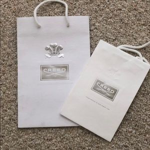 2 authentic CREED gift bags
